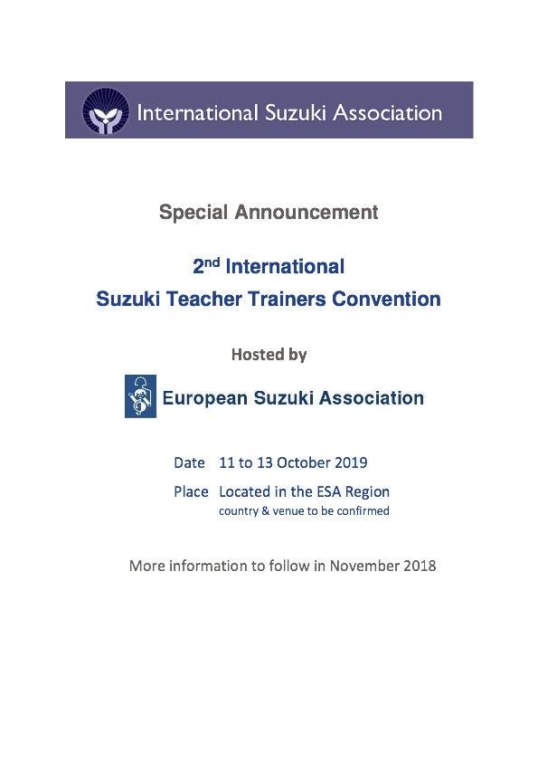 2019 ESA teacher trainer conference
